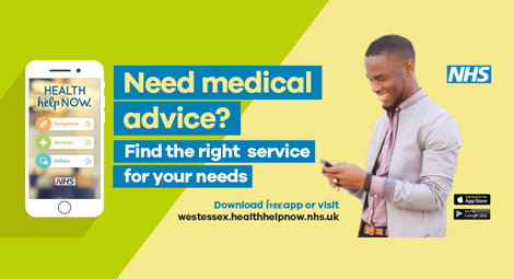 Health Help Now App - download free app or visit westessex.healthhelpnow.nhs.uk